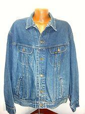 Vintage Mens Lee Faded Denim Trucker Jacket  Tag 2XL