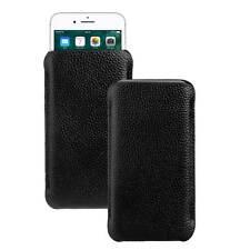 Design Ledertasche schwarz für Apple iPhone 7 Plus Tasche Etui Hülle Case black