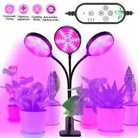 36W Drei Kopf LED Pflanzenlampe Vollspektrum Wachstumlampe Grow Licht Lampe DE