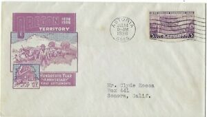'36 FDC Oregon Territory 100th Anniversary SC#783 on Ioor Cachet CV$10