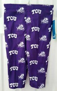 TCU Horned Frogs Kids Pants Size 2T Toddler Sweats Sleep Pajamas Lounge New