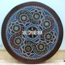 """60"""" Italian Marble Dining Table Accent Mosaic Inlay Living Room Arts Decor H3794"""