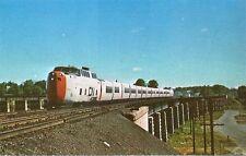 Postcard Ontario Port Hope Turbotrain Canadian National CN Railroad Unused ca70s