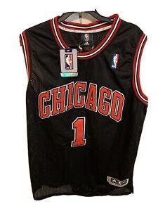 ADIDAS Chicago Bulls NEW Large XXL NBA Derrick Rose Basketball Jersey #1