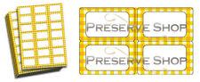Jam Jar Labels for Preserve Jars - Yellow Gingham - Jam & Preserve Making GIFT