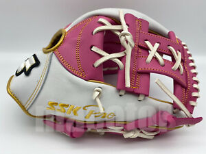 """Japan SSK Special Pro Order 11.5"""" Infield Baseball Glove Pink White RHT SALE New"""