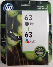 NEW HP 63 Black + 63 Tri-Color Ink Cartridges L0R46AN Exp 01/2020 FREE SHIPPING
