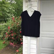 NWT Talbots Fun Navy Blue V-Neck Sweater 2X 18W 20W