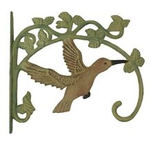 2 Hummingbird Cast Iron Plant Hangers Bird Feeders Yard Garden Home Decor Birds