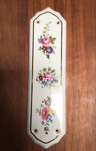 Old Vintage Floral Ceramic Finger Plates - 11 Available - Price Is Per Plate