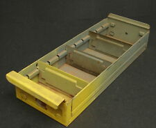 Vintage Industrial Yellow Painted Metal Part Bin Drawer Storage Divided Tray