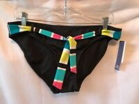 Jag bikini swim bottom black hipster women swimwear nwt new Size L Large W/ Tie