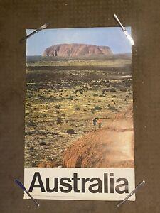 Australia Travel Poster Ayres Rock