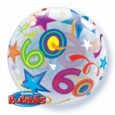 22in Bubble 60 Brilliant Stars / 1 - Birthday Balloon 22 Qualatex Helium Party