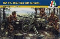 Italeri 1:35 WWII German Pak 97/38 AT Gun with Crew Servants Model Kit #6460