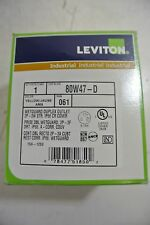 Leviton Yellow 80W47D Wetguard Duplex Outlet 2P-3W STR New Surplus