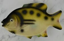 Vintage 1960's Hoover Fish Plate Wall Hanging Platter Green Fishing Bass Decor
