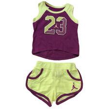 Jordan Girls 2 Piece Set Purple/Lime