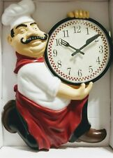 Westclox 3D Fat Chef Shaped Wall Clock,  12 1/2 in. Comes with a battery.
