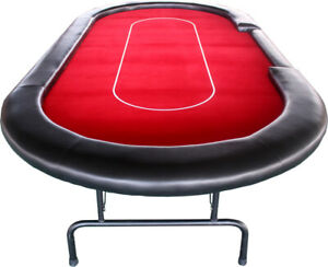 10-seat Professional Casino Dealer Poker Table with Strong & Foldable Metal Legs