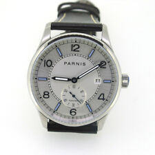 Parnis Men Automatic Mechanical Watch 41mm Stainless Steel Case Small Second New