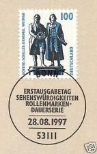BRD 1997: Goethe- und Schillerdenkmal Weimar Nr. 1934 mit Bonner Stempel 1A 1709