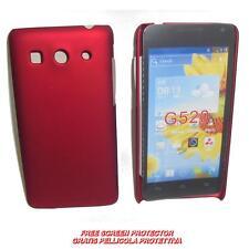 Pellicola+custodia BACK COVER RIGIDA ROSSA per Huawei Ascend G525 G520 (C2)