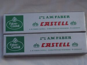 Lot 2 Vintage A W Faber Castell  4H and 5H  9000 12 Pencils box Germany