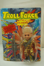 Troll Force Action Figure Toy Soldier 4175 Mip Sealed Army Military Machine Gun