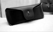 men women Eyeglass Cases sunglasses bag holder cow Leather Customize black z328