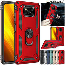 For Xiaomi Poco X3 Pro Case Heavy Duty Armor Shockproof Ring Holder Stand Cover