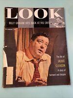 1956 February LOOK Magazine Jackie GLEASON BILLY GRAHAM Montana Eva Marie