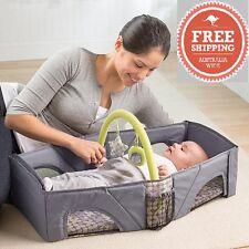 Summer folding Portable Light weight Baby Infant Travel Bassinet Cot Portacot