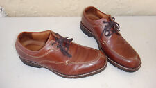 Johnston & Murphy Leather Oxfords, Brown Size 11M, Made in Brazil. free shipping