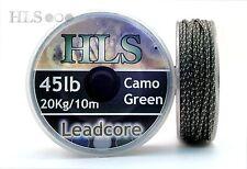 Ligne Plombée - 20.5kg Kg Camouflage Vert X 10m. File D'Attente Appât Core Carpe