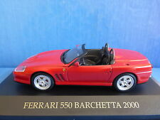 FERRARI 550 BARCHETTA RED 2000 IXO FER020 1/43 ROADSTER ROUGE ROSSO ITALIA