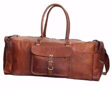 "23"" Leather Duffle Bag Overnight Weekend Travel Luggage Handbag"