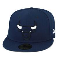 New Era Chicago Bulls Fitted Hat Midnight Navy/White Eyes