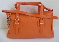 Authentic Onna Ehrlich Derin Shoulder Bag Satchel Orange Pebbled Leather NWT
