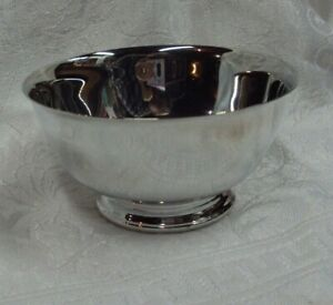 """PAUL REVERE Reproduction Silver Plate 4"""" Bowl by Oneida ~ Made in USA ~ NICE!"""