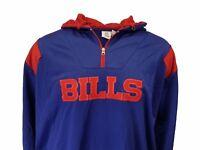 NEW Buffalo Bills NFL Men's Blue Hooded 1/4 Zip Fleece Jacket Big & Tall Sizes