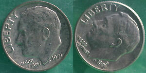 1971 P and D Roosevelt Dime 2 Coins from US Mint Set BU Cellos Ten Cents Two 10c