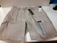 New Lee Flex-To-Go Women's Bermuda Shorts Khaki tan 6 pockets Size 16 W Stylish