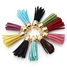 10pcs Women's Suede Tassel Key Chain Straps Charm Keyring Pendant Decor App.4 cm