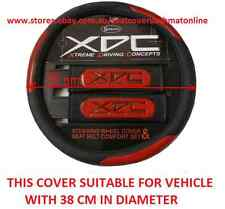 XDC, BLACK & RED STEERING WHEEL COVER MAZDA TOYOTA RAV4,KLUGER,PRADO,LANDCRUISER