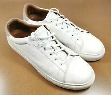 Great Whistles Mens Low top white leather trainers UK 10.5