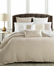 Hotel Collection Waffle Weave King Beige Duvet Cover