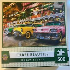 MasterPieces THREE BEAUTIES Car Jigsaw Puzzle 500 Pieces 21x15 Inches NIB Fun