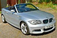 BMW 120d M sport convertible , 58 Plate (2008) silver