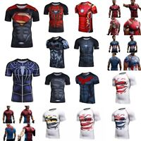 Men Marvel Superhero 3D T-shirt Short Sleeve Cosplay Fitness Cycling Jersey GYM
